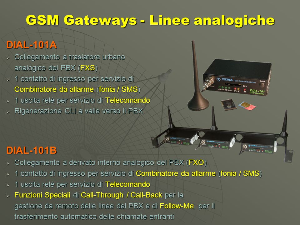 GSM Gateways - Linee analogiche