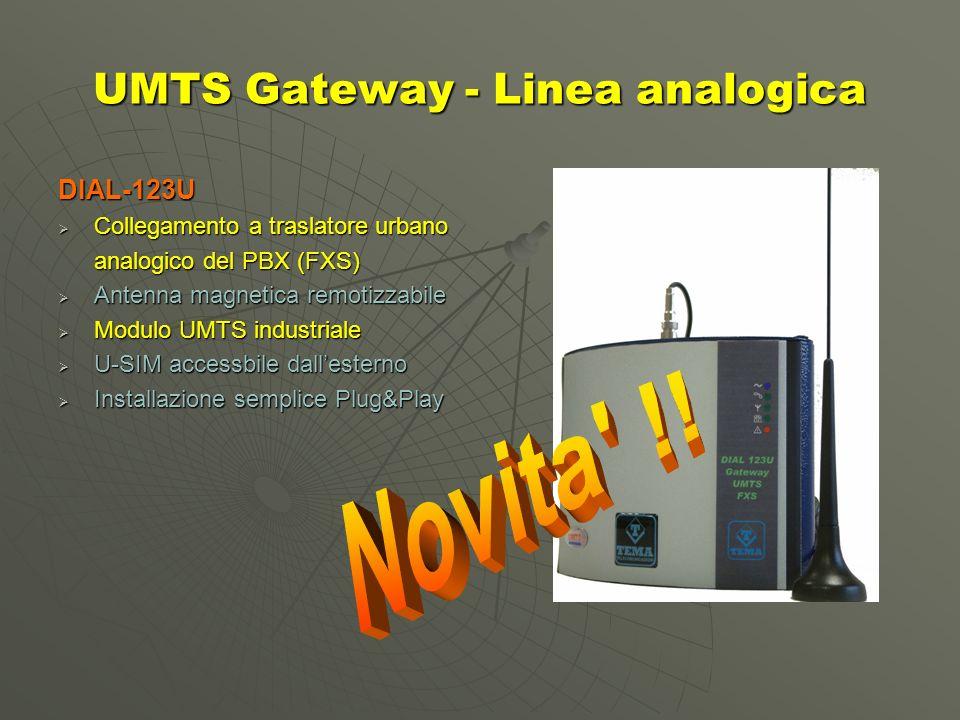 UMTS Gateway - Linea analogica