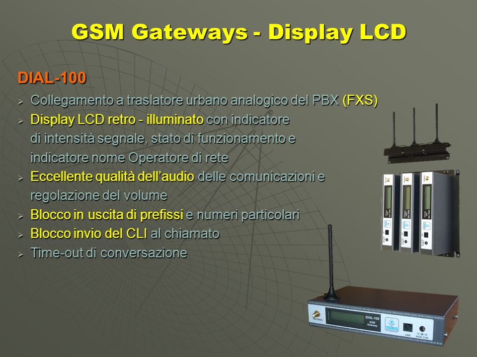 GSM Gateways - Display LCD
