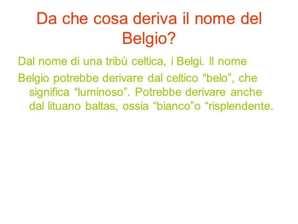 Da che cosa deriva il nome del Belgio