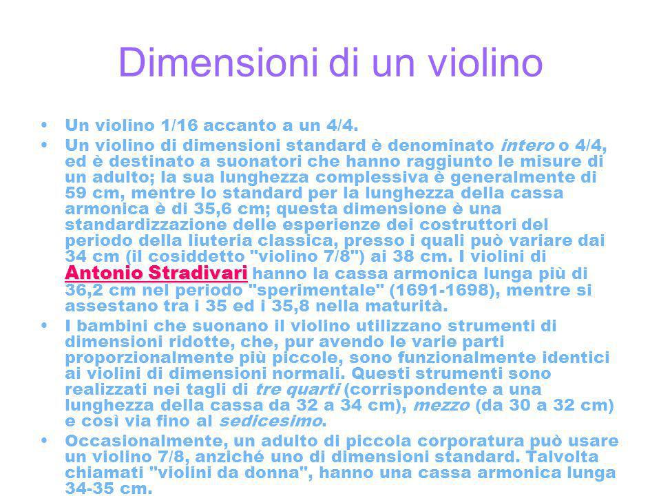 Dimensioni di un violino