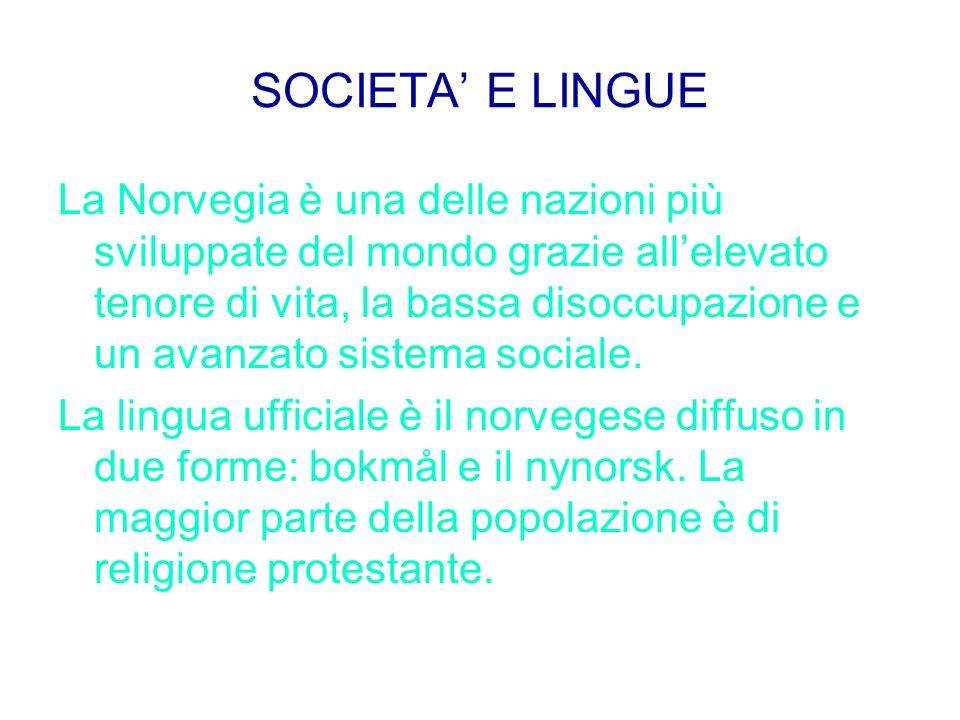 SOCIETA' E LINGUE
