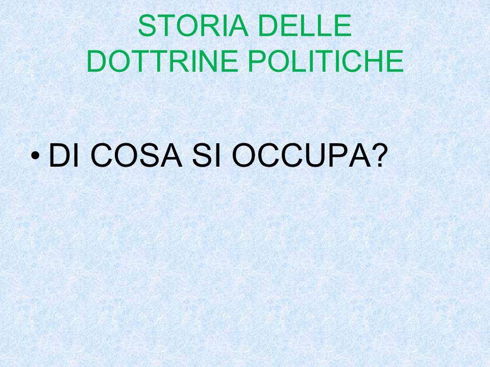 STORIA DELLE DOTTRINE POLITICHE