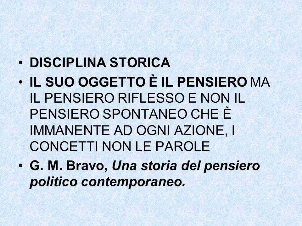 DISCIPLINA STORICA