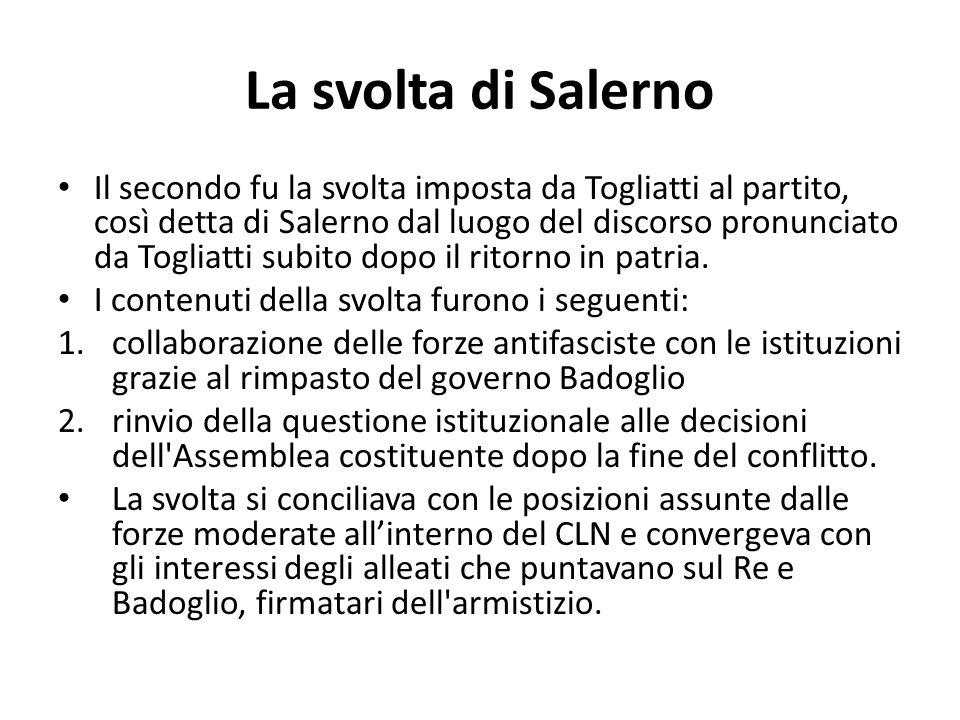 La svolta di Salerno