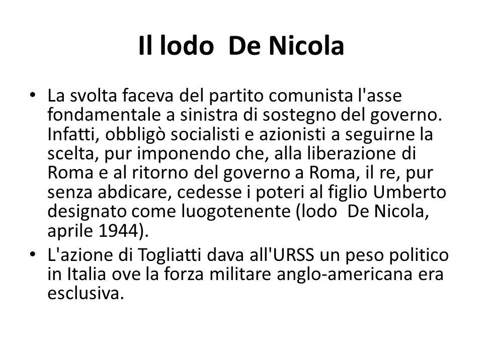 Il lodo De Nicola