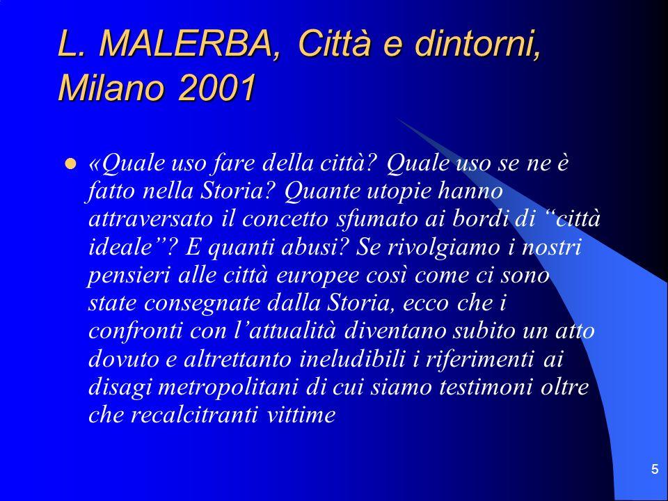 L. MALERBA, Città e dintorni, Milano 2001
