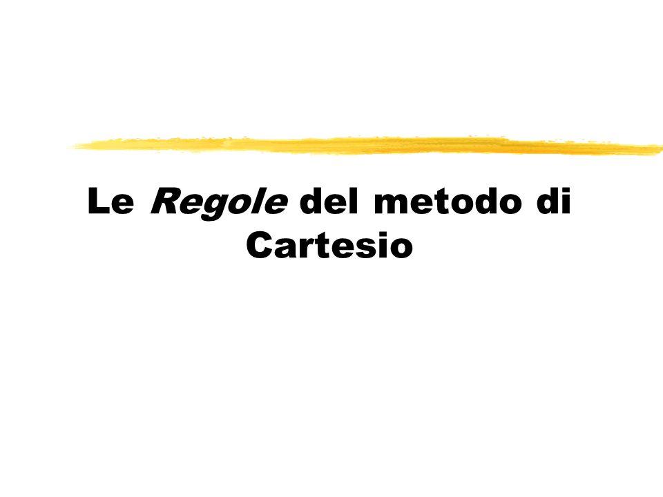 Le Regole del metodo di Cartesio
