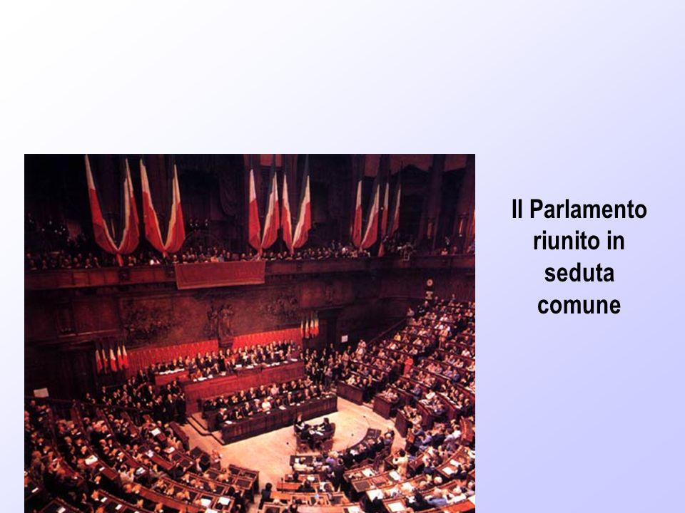 Il Parlamento riunito in seduta comune