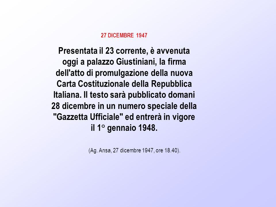 27 DICEMBRE 1947