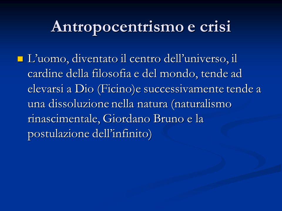 Antropocentrismo e crisi