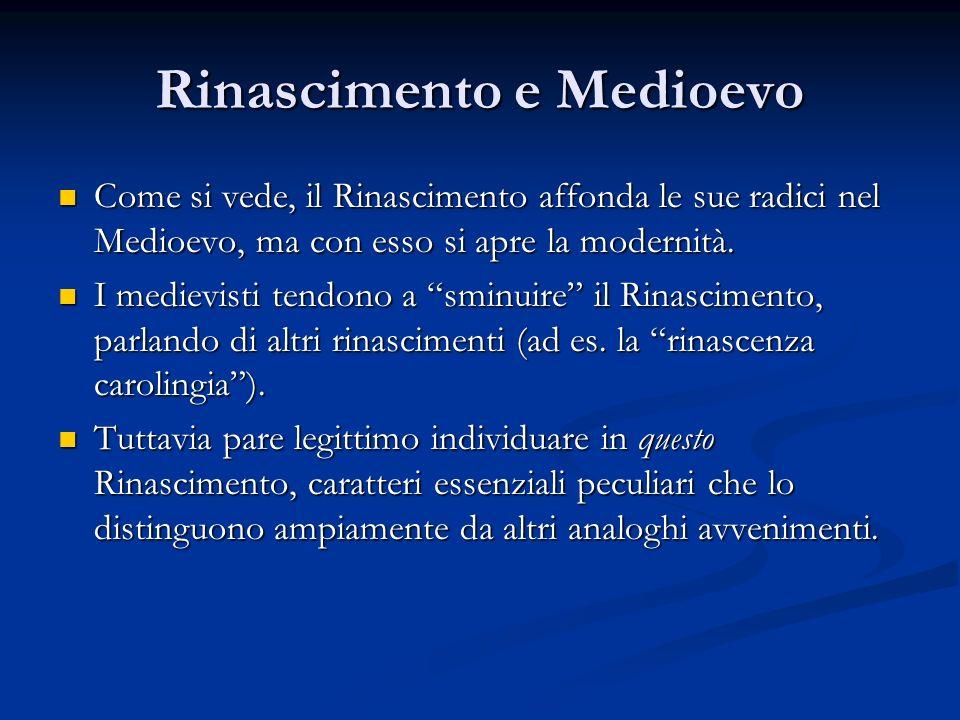Rinascimento e Medioevo