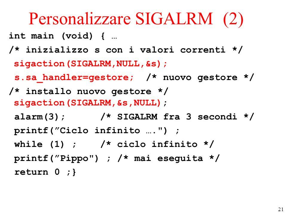 Personalizzare SIGALRM (2)