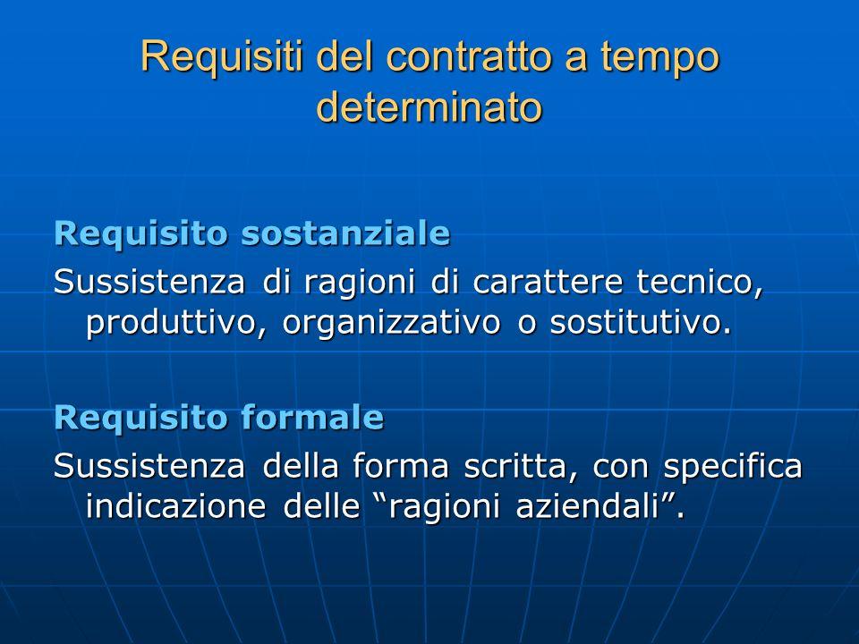 Requisiti del contratto a tempo determinato