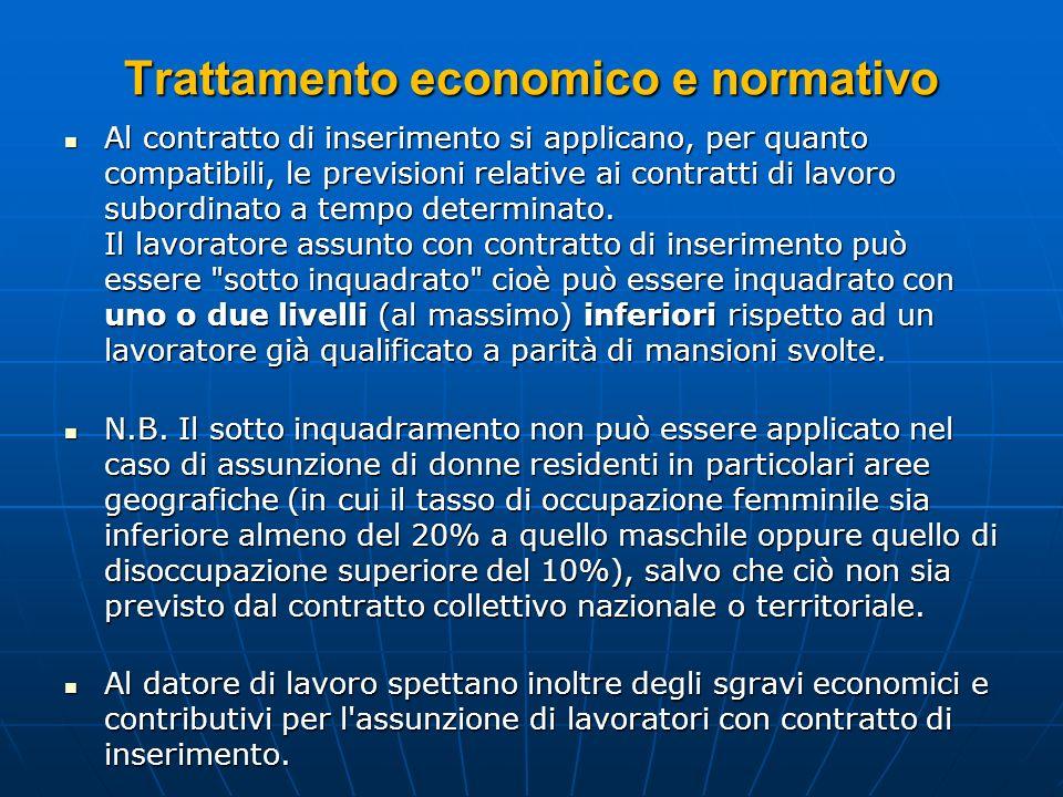Trattamento economico e normativo