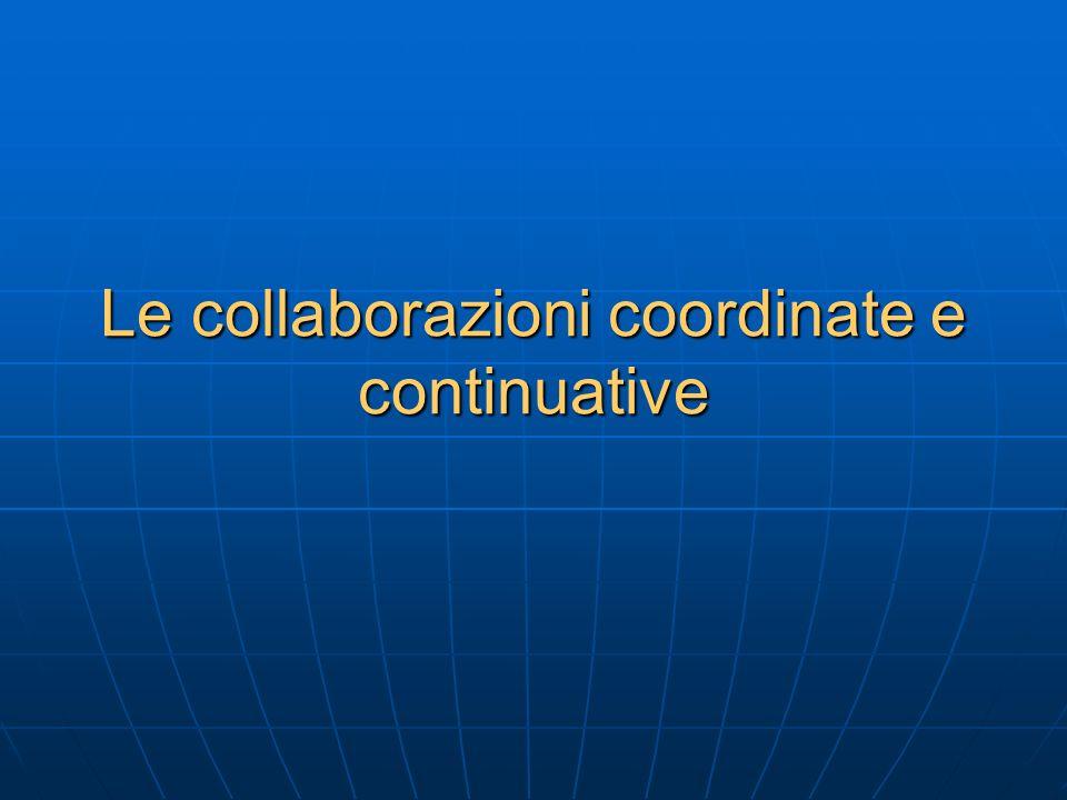 Le collaborazioni coordinate e continuative
