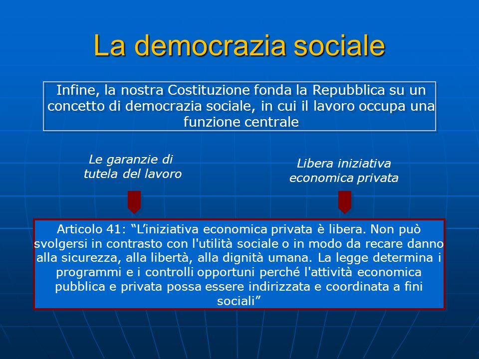 La democrazia sociale