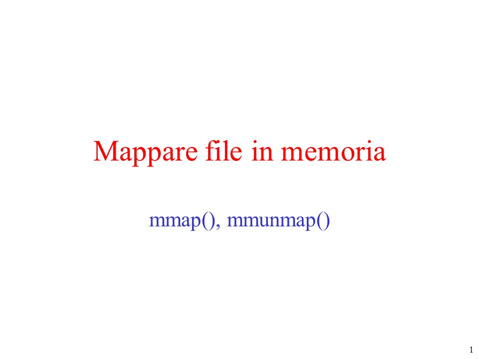 Mappare file in memoria