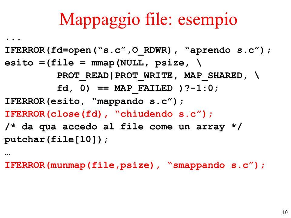 Mappaggio file: esempio