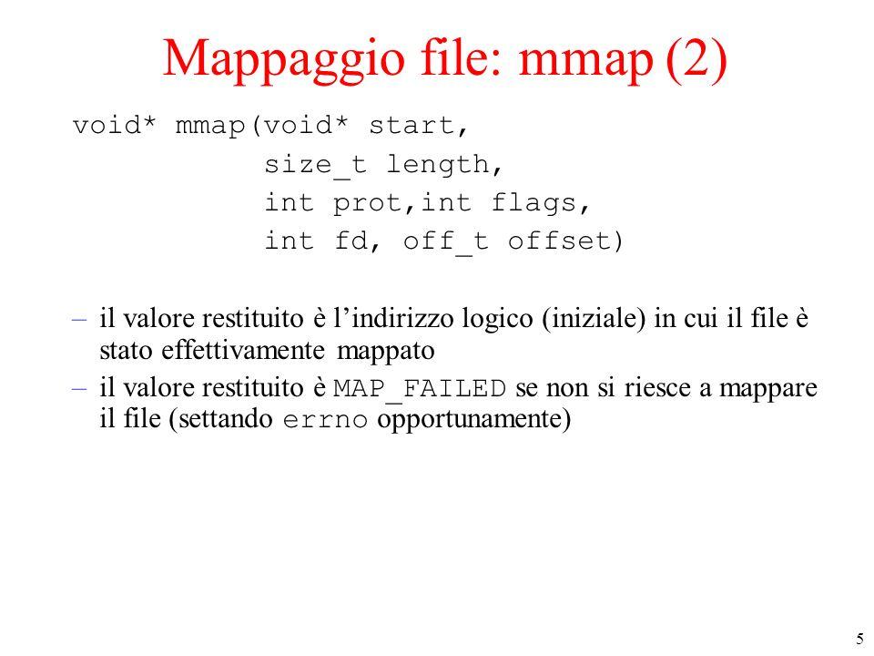 Mappaggio file: mmap (2)