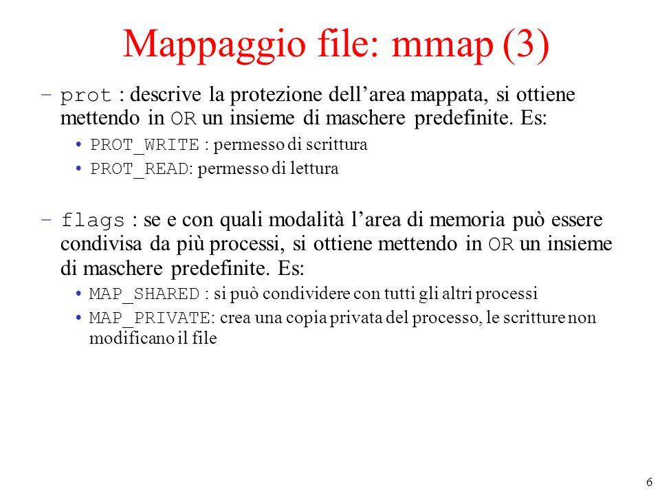 Mappaggio file: mmap (3)