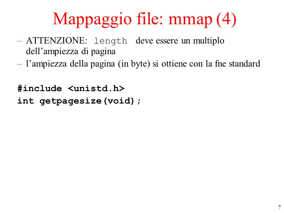 Mappaggio file: mmap (4)