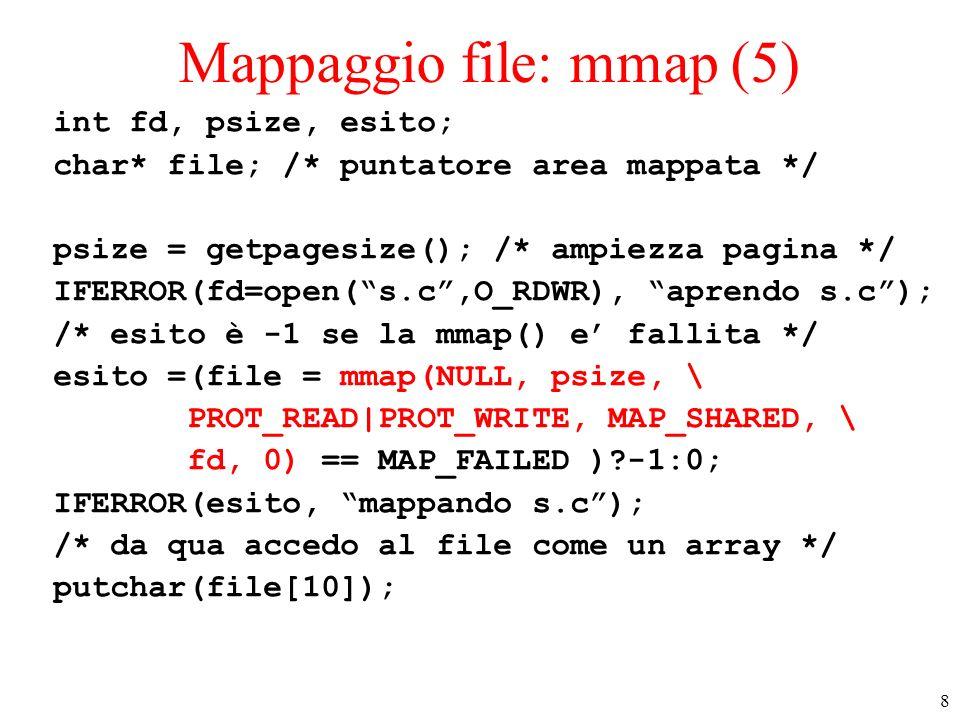Mappaggio file: mmap (5)