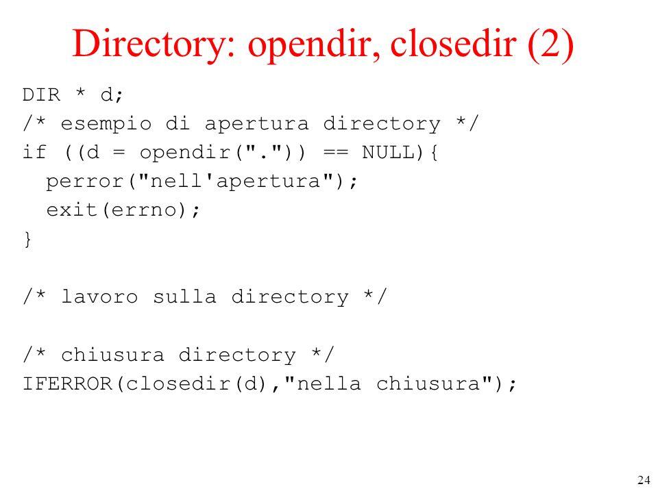 Directory: opendir, closedir (2)