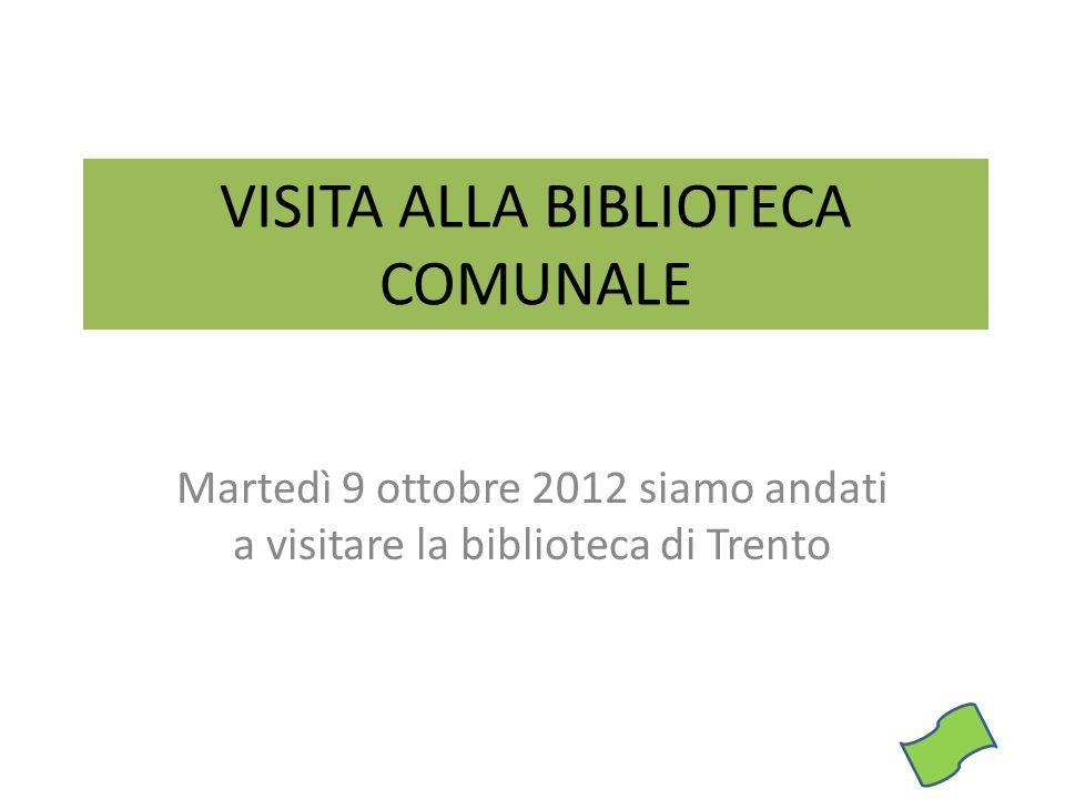 VISITA ALLA BIBLIOTECA COMUNALE
