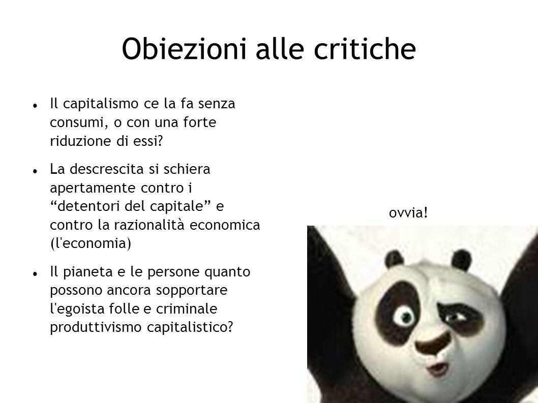 Obiezioni alle critiche