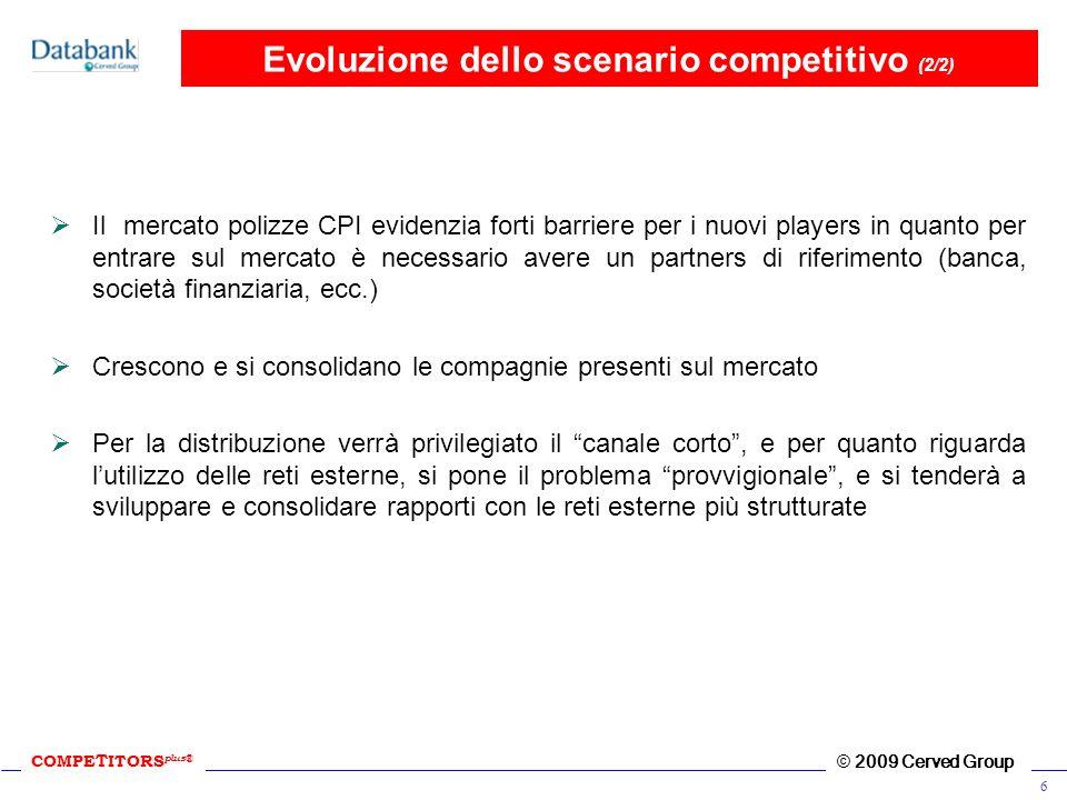 Evoluzione dello scenario competitivo (2/2)