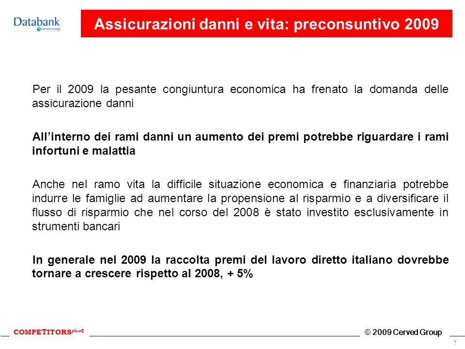 Assicurazioni danni e vita: preconsuntivo 2009