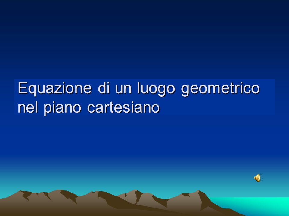 Equazione di un luogo geometrico nel piano cartesiano