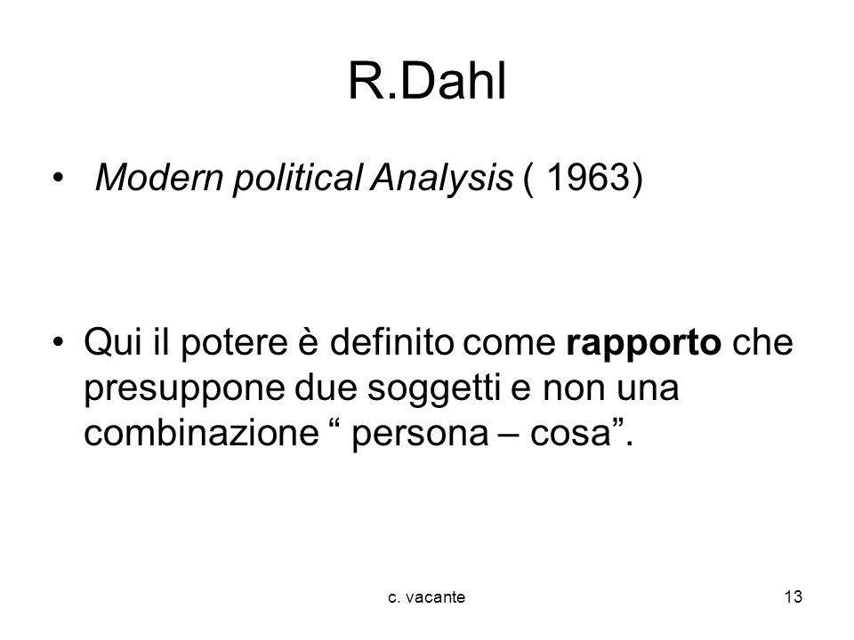 R.Dahl Modern political Analysis ( 1963)