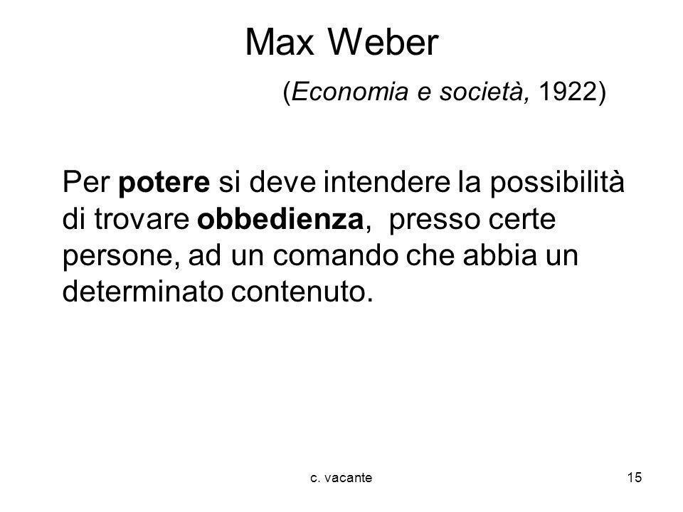 Max Weber (Economia e società, 1922)