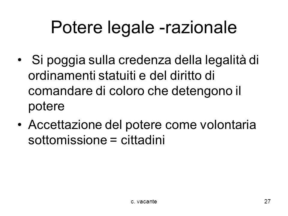 Potere legale -razionale