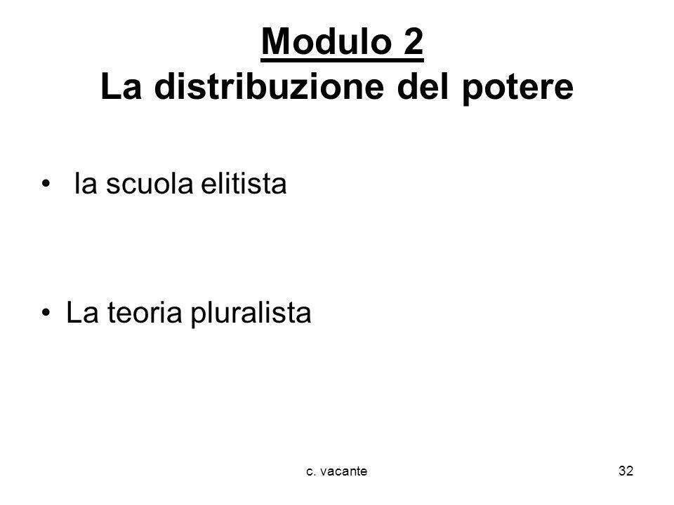Modulo 2 La distribuzione del potere