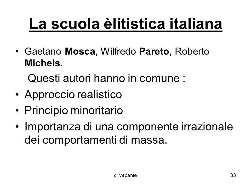 La scuola èlitistica italiana