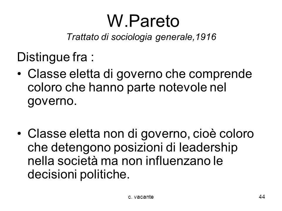 W.Pareto Trattato di sociologia generale,1916