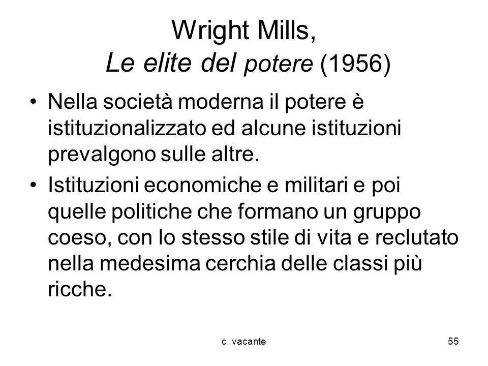 Wright Mills, Le elite del potere (1956)