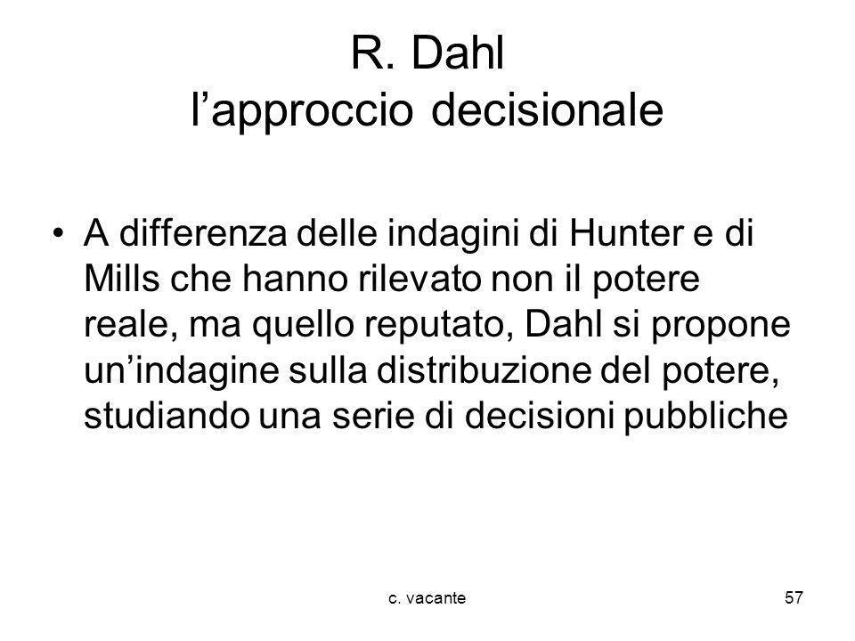 R. Dahl l'approccio decisionale