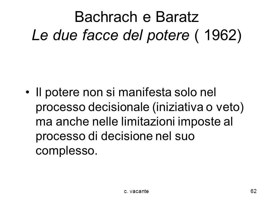 Bachrach e Baratz Le due facce del potere ( 1962)