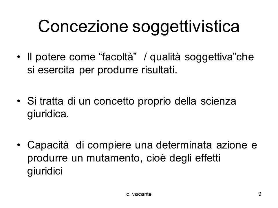 Concezione soggettivistica