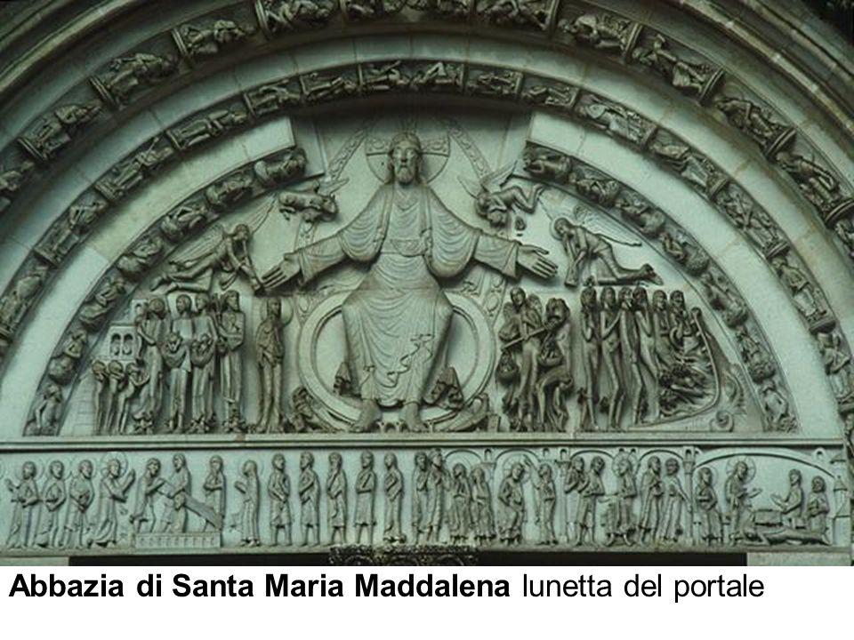 Abbazia di Santa Maria Maddalena lunetta del portale