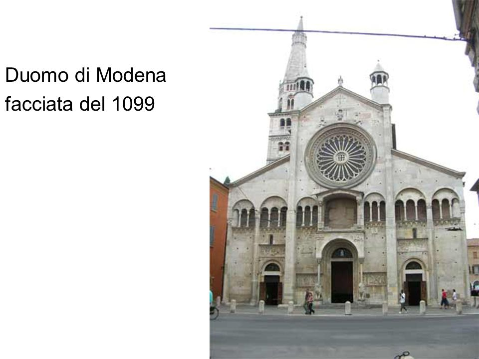 Duomo di Modena facciata del 1099