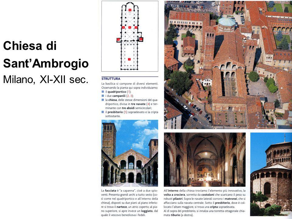 Chiesa di Sant'Ambrogio Milano, XI-XII sec.