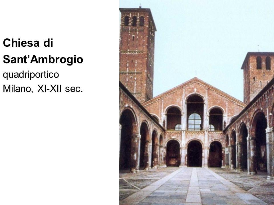 Chiesa di Sant'Ambrogio quadriportico Milano, XI-XII sec.