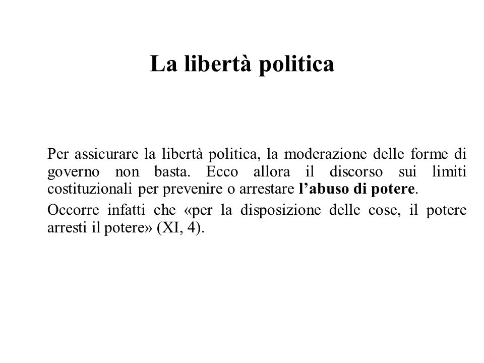 La libertà politica