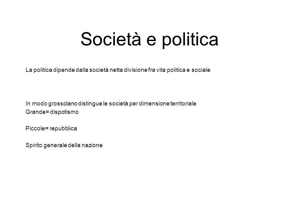 Società e politica