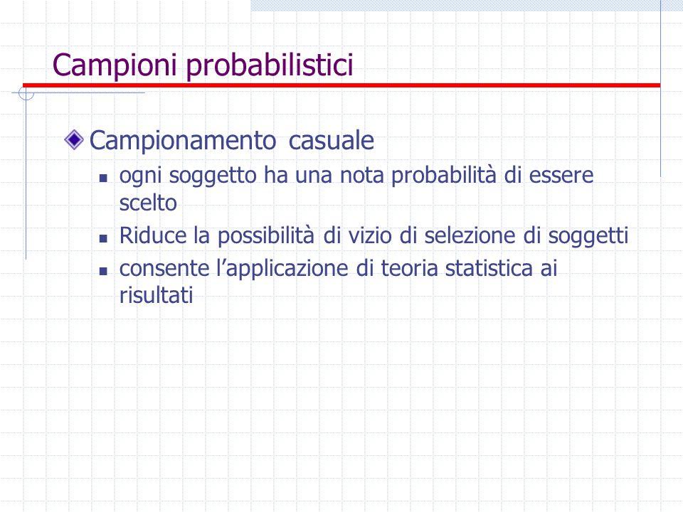 Campioni probabilistici